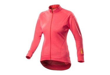 maillot manches longues femme ksyrium elite thermo rose 2017