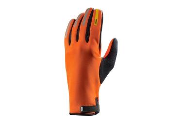 paire de gants hiver mavic aksium thermo orange 2017