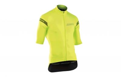 veste thermique manches courtes northwave extreme h2o jaune fluo