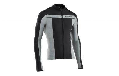 maillot thermique manches longues northwave celsius noir gris