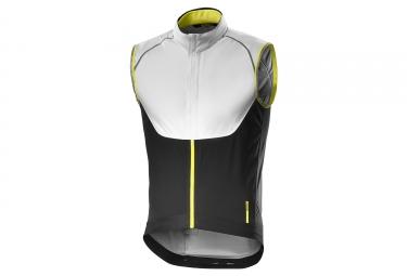 veste coupe vent sans manche mavic gilet vision h2o blanc noir jaune