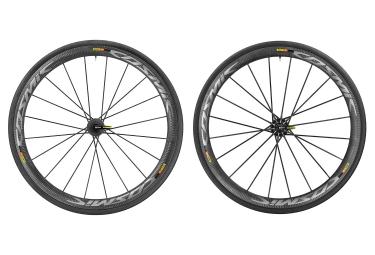 paire de roues mavic cosmic ultimate a boyaux shimano sram yksion pro 25mm