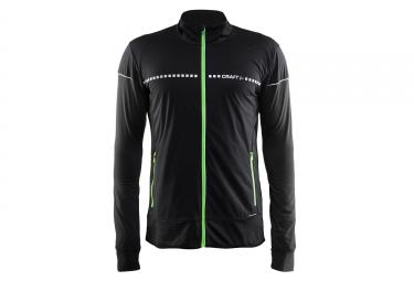 veste thermique craft run noir vert