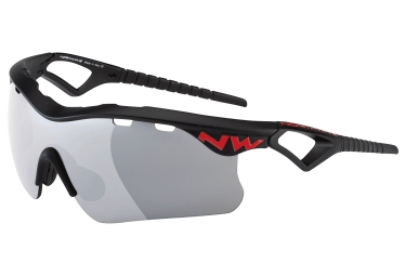 paire de lunettes northwave steel noir rouge