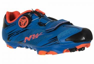 chaussures vtt northwave scorpius 2 plus bleu orange