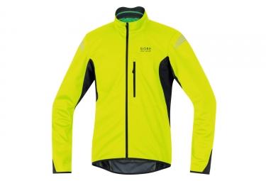 veste soft shell gore bike wear element windstopper jaune noir