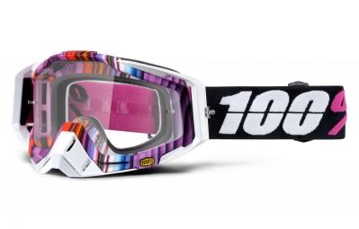masque 100 racecraft glitch rose blanc ecran transparent