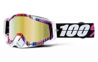 masque 100 racecraft glitch rose blanc ecran or iridium