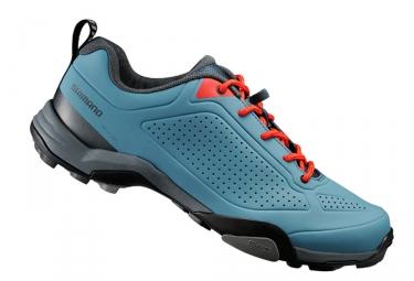chaussures vtt shimano mt300 bleu
