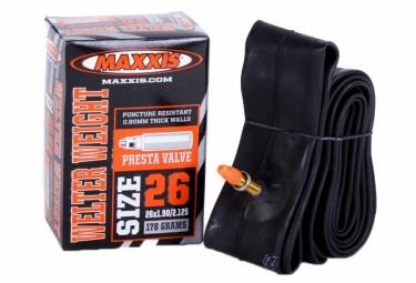 maxxis chambre a air welter weight 26x1 90 2 125 valve presta 48mm