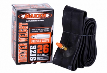 maxxis chambre a air welter weight 26 x 1 00 1 25 valve presta