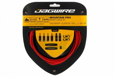 jagwire kit cables et gaines de frein mountain pro ripcord rouge