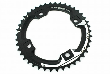 sram plateau 42 dents x9 entraxe 120mm gxp s2 blanc noir 10v