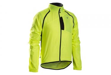 veste bontrager race convertible windshell jaune haute visibilite