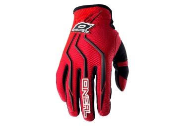 gants longs oneal element rouge