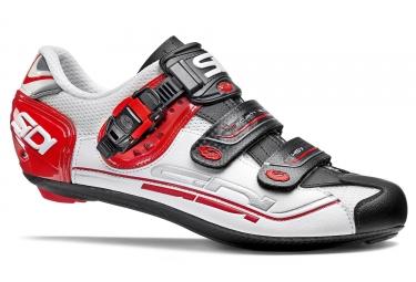 chaussures route sidi genius 7 blanc noir rouge 2017