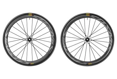paire de roues mavic 2017 cosmic pro carbon sl disc a pneus axe 12mm shimano sram yk
