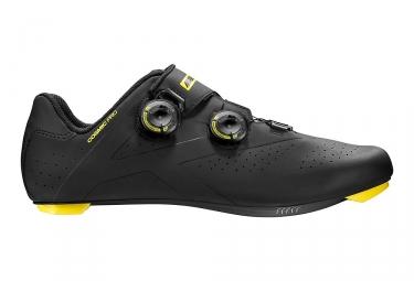 paire de chaussures route mavic 2017 cosmic pro noir jaune