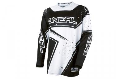 maillot manches longues enfant oneal element racewear blanc noir