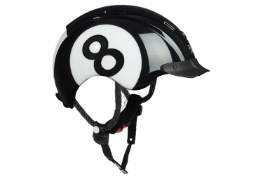 casque enfant casco mini generation noir blanc
