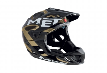 casque integral met parachute noir or