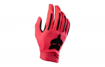 paire de gants longs fox demo air rose