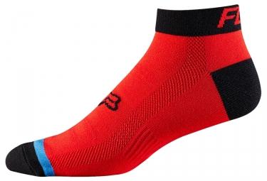 paire de chaussette fox race 2 rouge