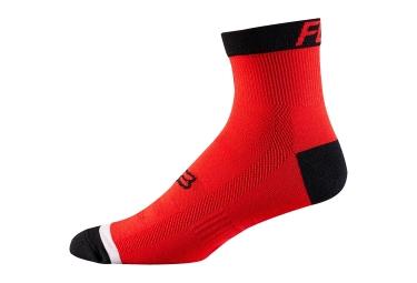 paire de chaussettes fox trail 4 rouge