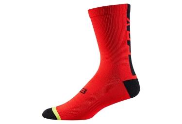 paire de chaussettes fox dh 6 rouge