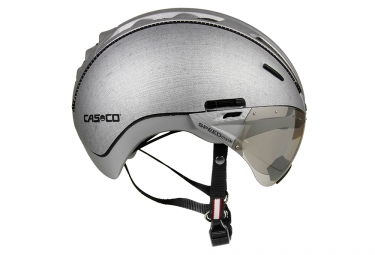 casque casco roadster tc argent