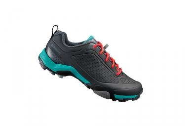 paire de chaussures femmes vtt shimano mt300 d noir vert