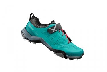 paire de chaussures femmes vtt shimano mt500 d vert