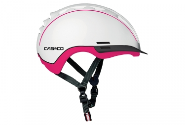 casque enfant casco young generation blanc rose