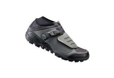 paire de chaussures vtt shimano me700 gris
