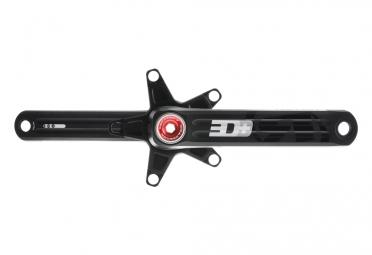 manivelles rotor 3d triple 130 74mm bb30 noir rouge