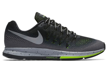 nike air zoom pegasus 33 shield gris jaune homme