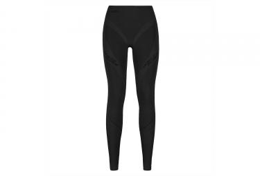 sous pantalon de compression femme odlo muscle force evolution warm noir gris