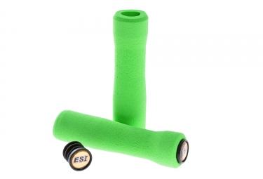 paire de grips esi fit xc silicone vert