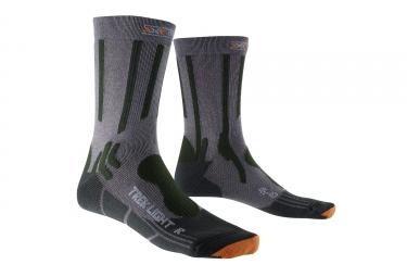 paire de chaussettes x socks trekking light gris