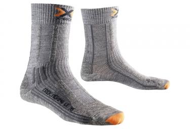 paire de chaussettes femmes x socks trek merino light gris