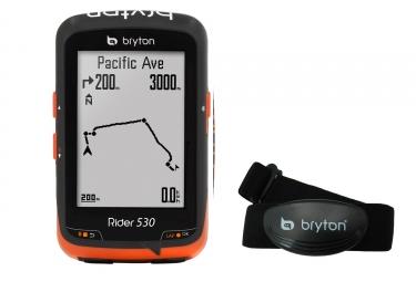 compteur gps bryton rider 530 h capteur cardiaque inclus