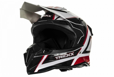 casque integral trick x spike noir rouge