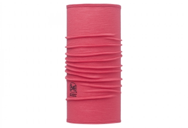 tour de cou buff merino wool slim rose