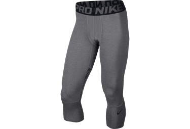 collant 3 4 compression homme nike pro hypercool gris