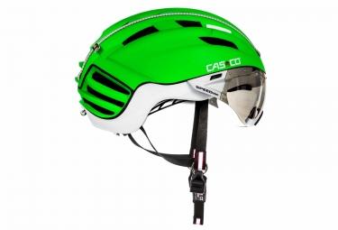 casque aero casco speedster tc plus vert blanc