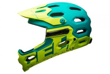 casque integral bell super 3r bleu vert
