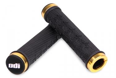 paire de poignees odi machine lock on 143mm noir jaune