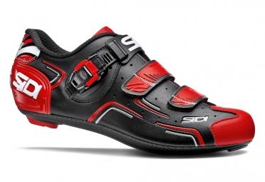 chaussures route sidi level noir rouge blanc