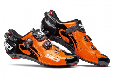 chaussures route sidi wire 2017 orange noir
