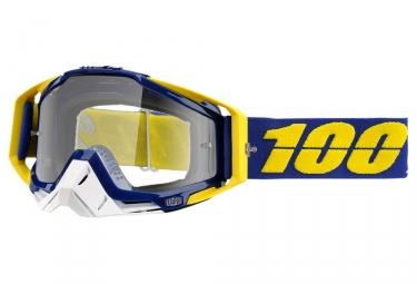 masque 100 racecraft bleu jaune ecran transparent